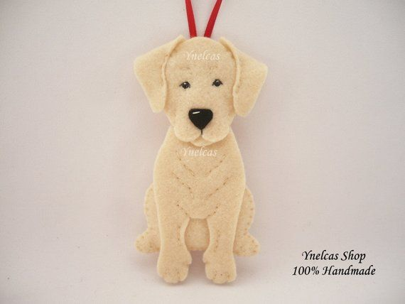 Please Rea Felt Dog Ornament Dog Christmas Ornaments Felt