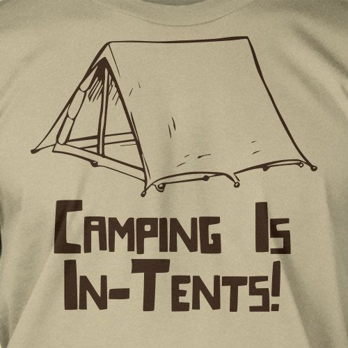Funny Camping Camp Camper Hiking Scout Scouting T-Shirt - Camping In - Tents Geek Camping Hiking Mountain Mens Ladies Womens Youth Kids. $14.99, via Etsy.