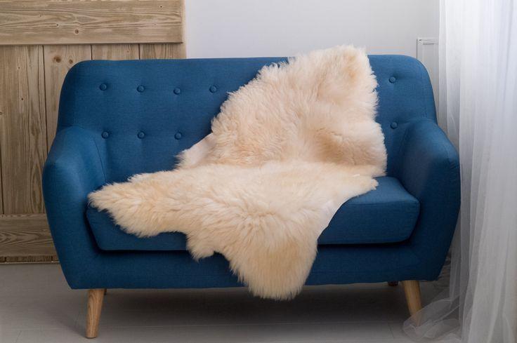 Luxury sheepskin rug, real natural fur rug, white leather rug, fur throw, cream white sheepskin fur by Magicbeanbag on Etsy