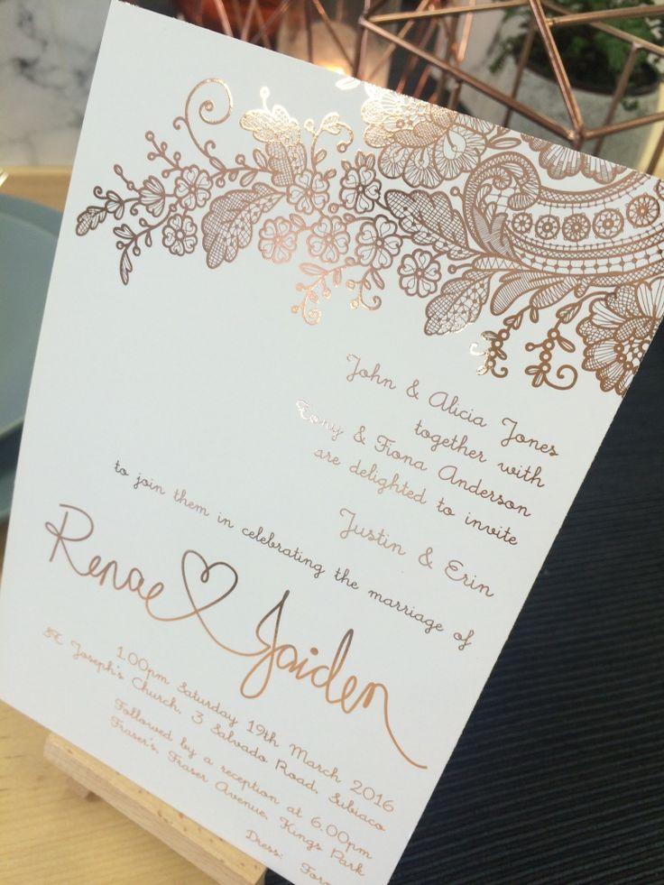 Rose gold renae wedding pinterest einladungskarten einladungskarten hochzeit und - Pinterest einladungskarten ...