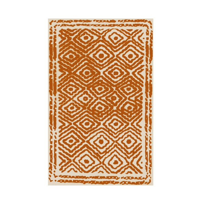 Diamond Eye Rug - Orange | dotandbo.com