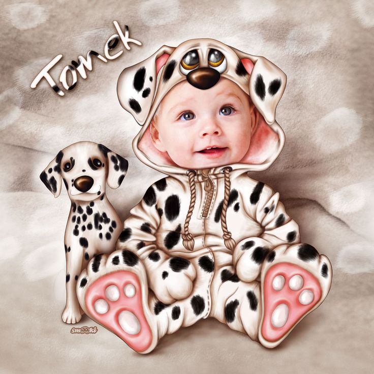 Little Dalmatian dog - personalised print, picture and poster for children - www.smooki.pl