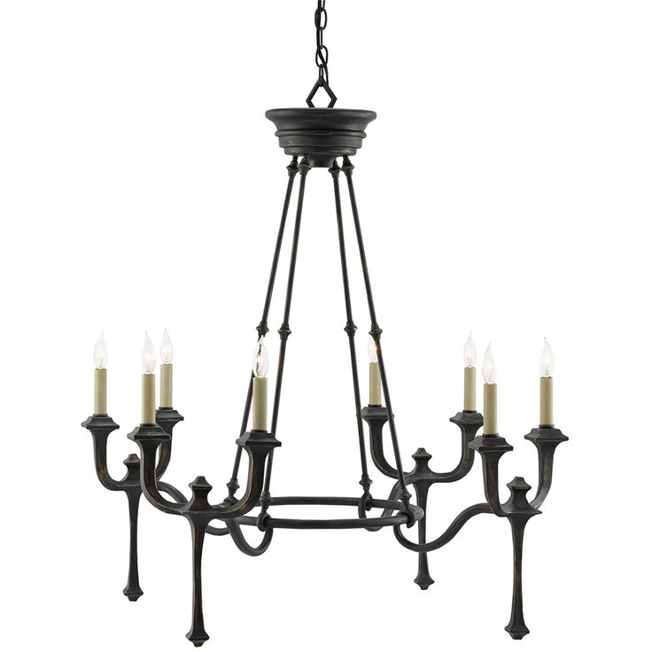 black chandelier lighting. currey and company conversation chandelier black lighting