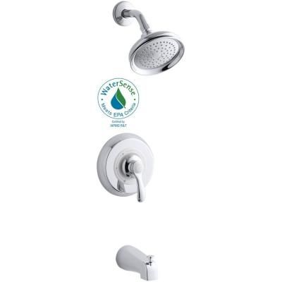 KOHLER Fairfax 1-Handle Tub and Shower Faucet in Polished Chrome (Valve Not Included)-K-T12007-4E-CP - The Home Depot