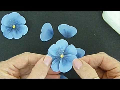 Pretty Paper Pansies - using Stampin Up's Butterfly punch! ***** Please DO NOT repin until you've clicked on the picture and reached the actual youtube video. This links your pin to the creator. ****