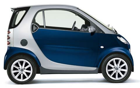 Smart car ~ my cousins in Italy say these are dumb cars.. but I don't know they are kinda cute..