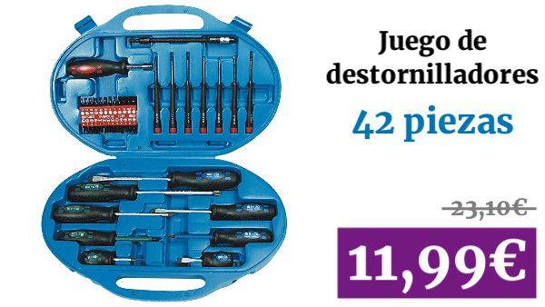 Juego de destornilladores 42 piezas. Mannesmann M11242