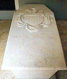 George Washington, First United States President. 1732 - 1799 - White Marble Grave Ledger.
