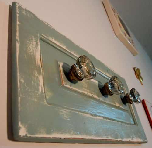Upcycled Antique Glass Doorknob Coat Rack Mounted by RustyTinRoof