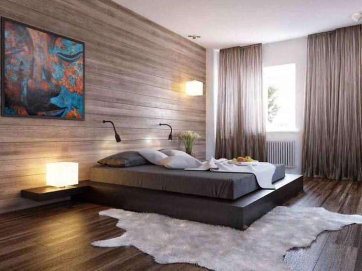 Camera da letto con pareti in legno - Pareti in legno per personalizzare la camera da letto.