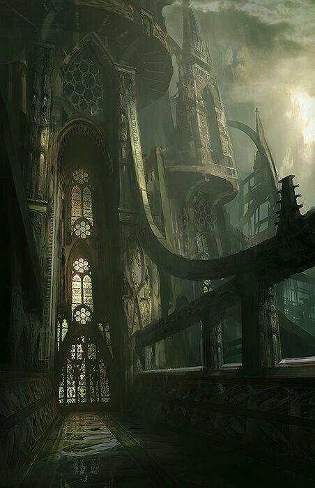 Castle digital illustration