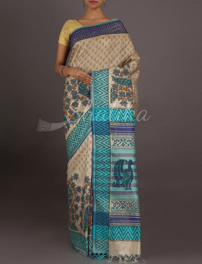 Hiya Passionate Peacocks Pure Ghicha Silk Saree