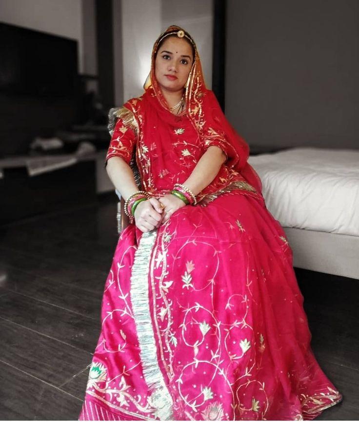 Shivani Rathore 💫 in 2020 Rajputi dress, Indian wedding
