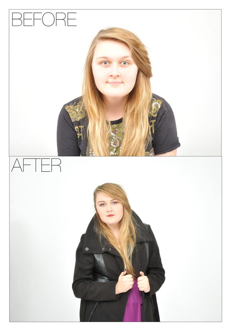 my before and after makeup on Amelia