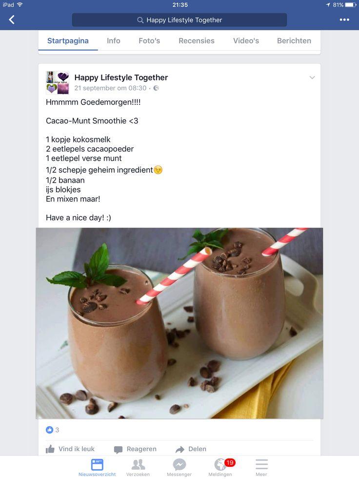 Cacao muntsmoothie