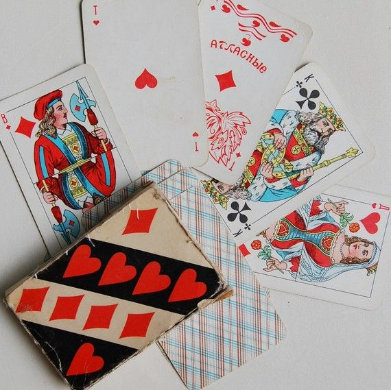 Vintage 70s Playing Cards - from Russia / USSR / Soviet Union