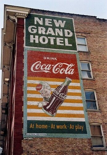 Coca Cola sign - New Grand Hotel on 4th South Salt Lake City Utah