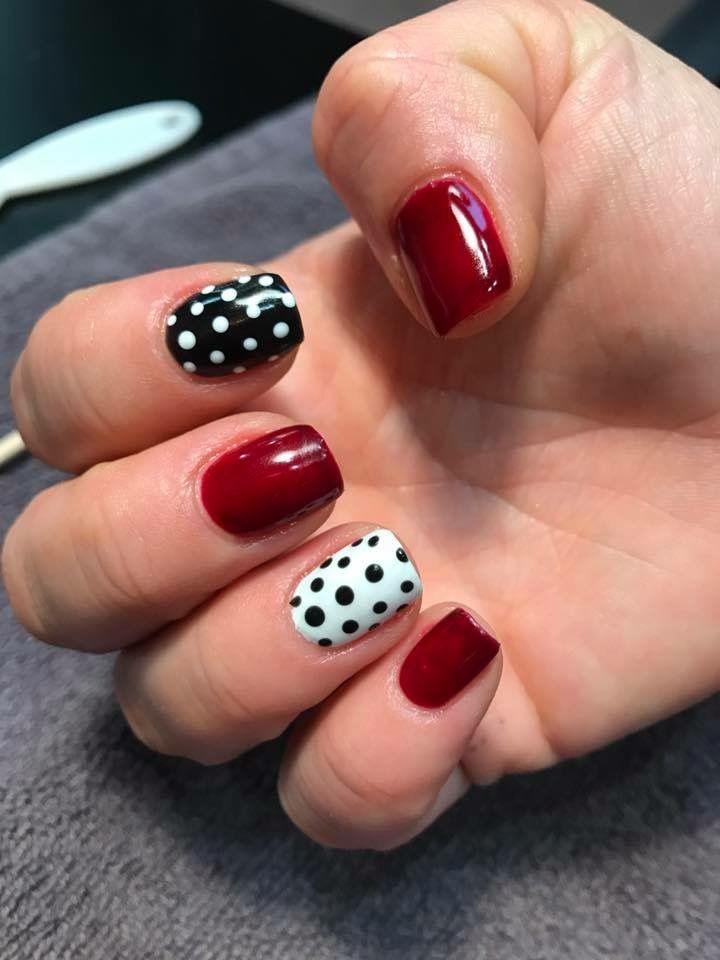 Rockabilly nails Gel polish