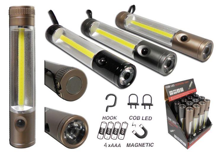 LATARKA 2w1 lampka 3W COB + 1W led