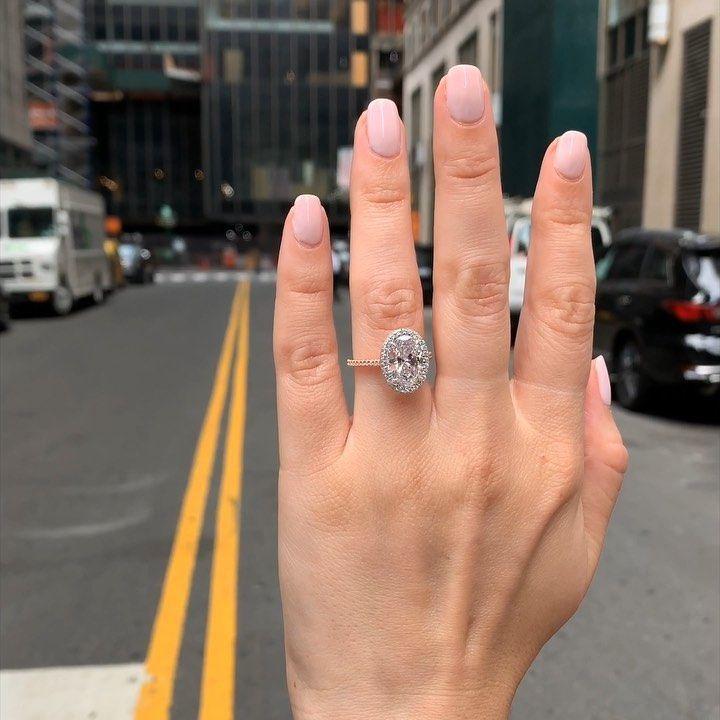 Lauren B On Instagram Stopping New York City Traffic With This 3 Carat Ovaldiamond Engagement Ring Wedding Rings 7mm Designer Engagement Rings Engagement