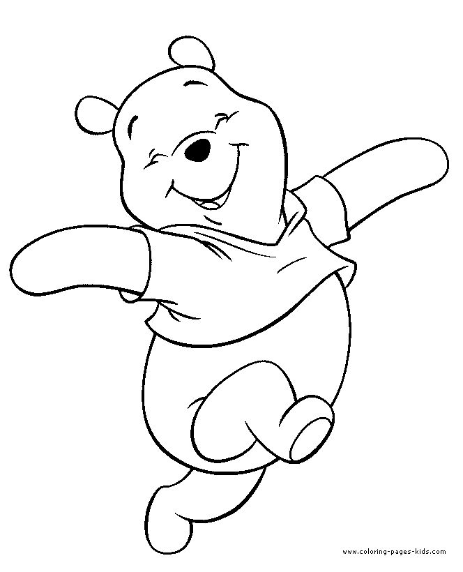 winnie the pooh color page disney coloring pages color plate coloring sheet - Pages To Colour In