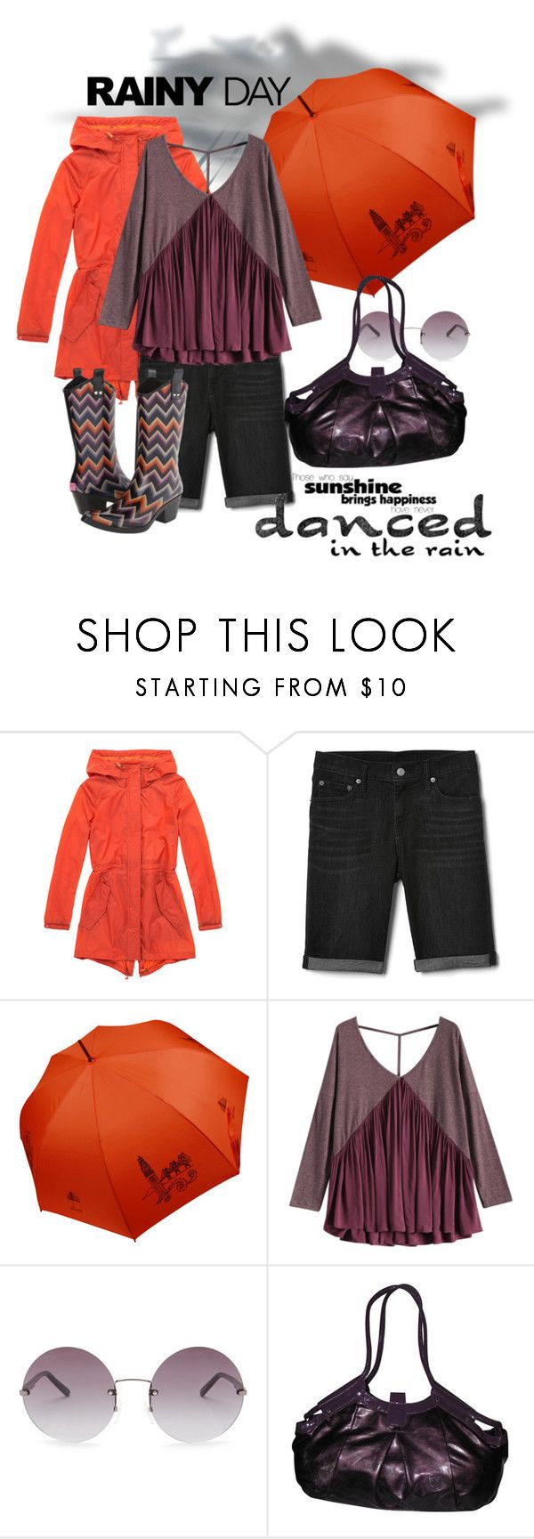 """""""Let's Go Puddle Jumping"""" by daincyng ❤ liked on Polyvore featuring Marc New York, Gap, OXYDO, Emmanuelle Khanh, M&F Western and rainyday"""