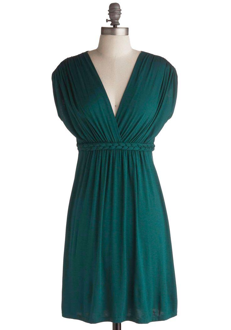 Beautiful colour. >> Closet Braid Dress in Deep Jade. #green #modcloth