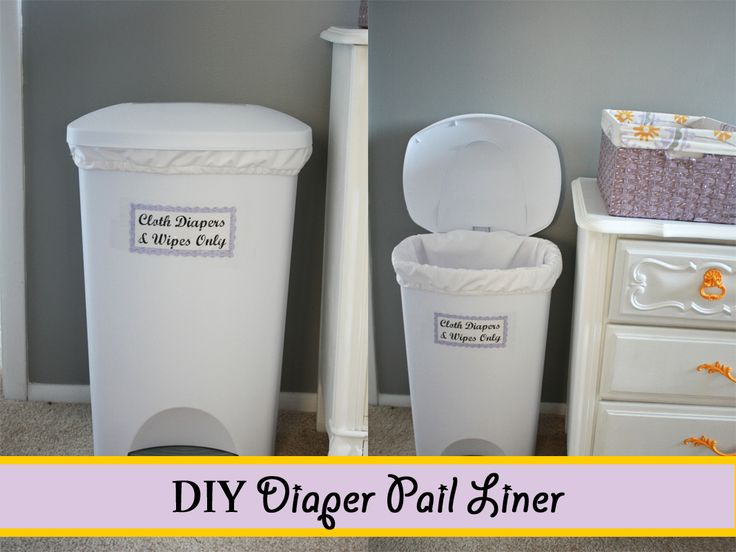 DIY Pail Liner. Great pictorial directions, simple level sewing.
