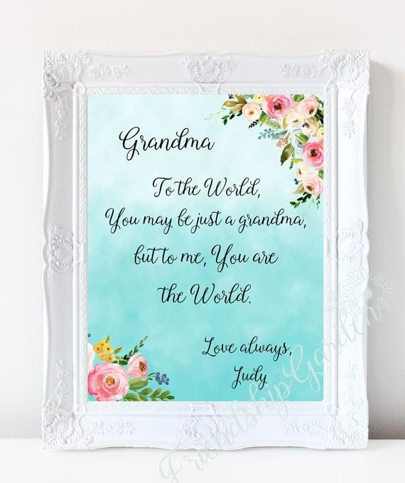 Grandma Gift Mothers Day For Personalized Birthday Grandmother From Grandson Granddaughter