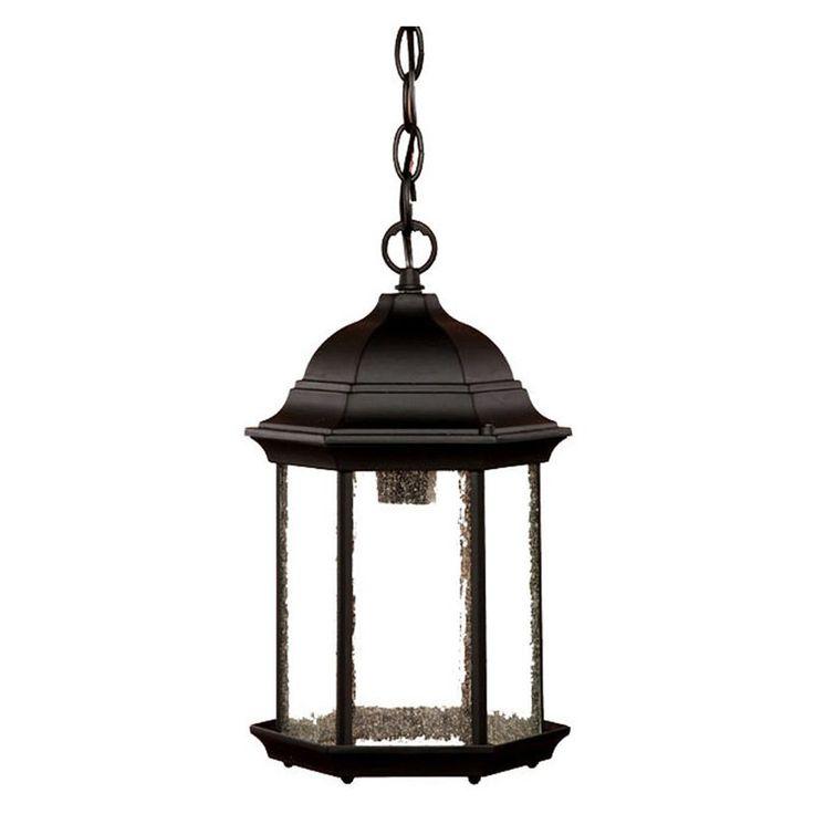 Acclaim Lighting Madison 1 Light Outdoor Hanging Lantern Light Fixture    5186BK/SD