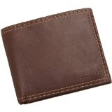 Levi's Mens Extra Capacity Slimfold Wallet, Brown, One Size (Apparel)By Levi's