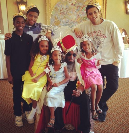P. Diddy & Kids: Royal Father's Day Brunch