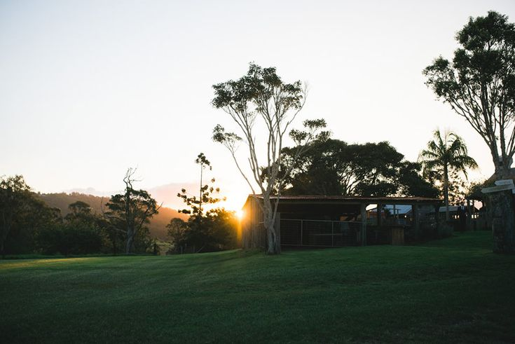 Sunset at the Yandina Station wedding venue