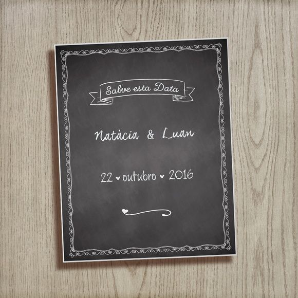 Save the Date Digital#savethedate #salveestadata #reserveestadata  #casamento #wedding #festadecasamento  #acessorionecessario #savethedatedigital  #chalk #blackboard #chalkwedding #quadronegro #chalkboard #lousa dgidgi2008@hotmail.com