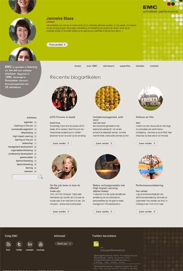 Multi-user website voor EMC in Groenekan. Gebouwd door Dataproces