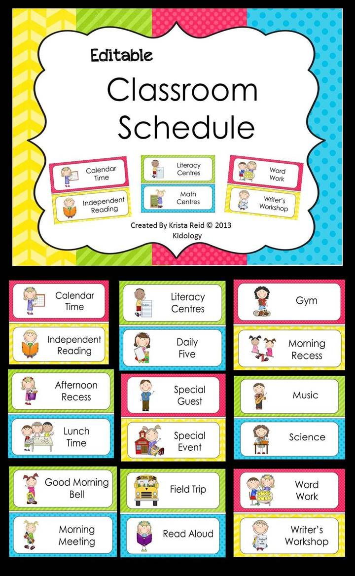 Classroom Schedule Ideas : Best ideas about classroom schedule on pinterest