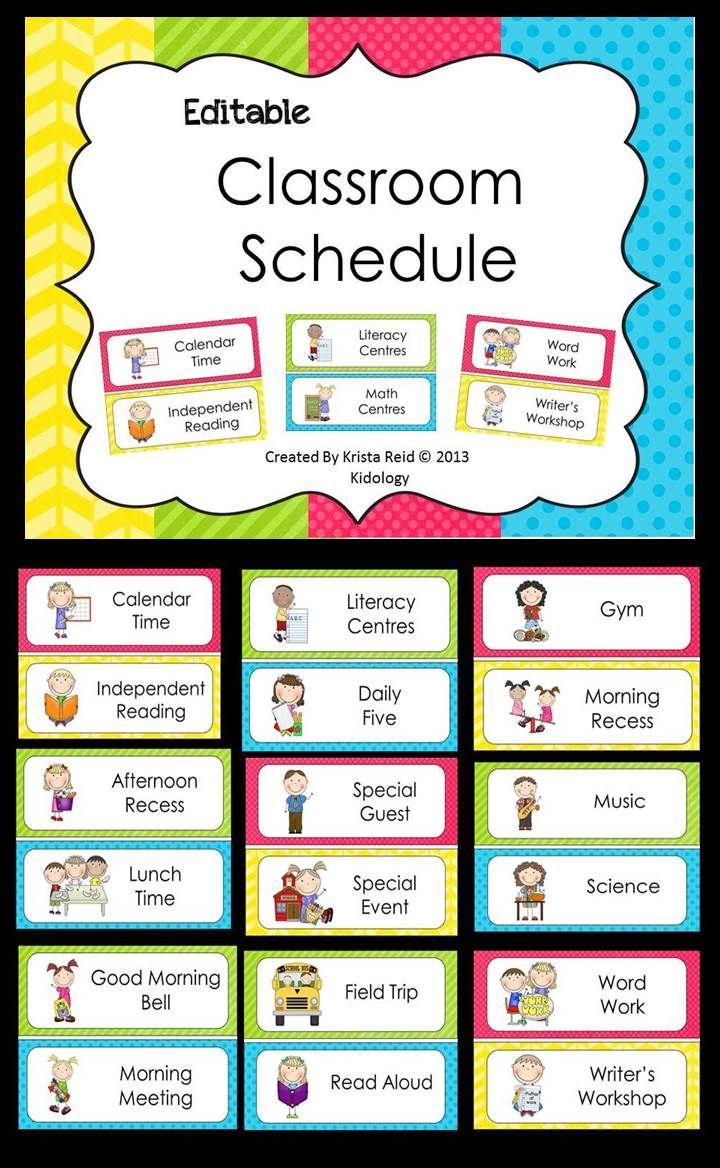 Editable Classroom Schedule!