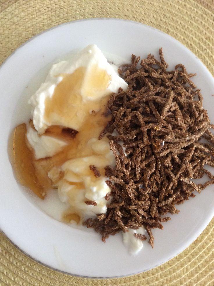 Yogurt Griego, Miel y Cereal de fibra! Simple and Healthy*