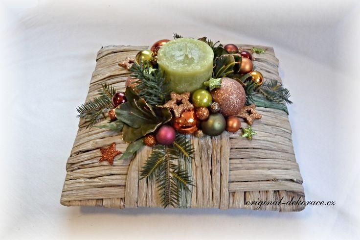 Vánoční hyacintový polštář - vánoční dekorace na stůl