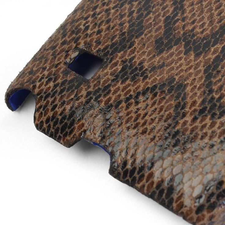 #Brown #Leather Snake Print #Mobile #Cover Online