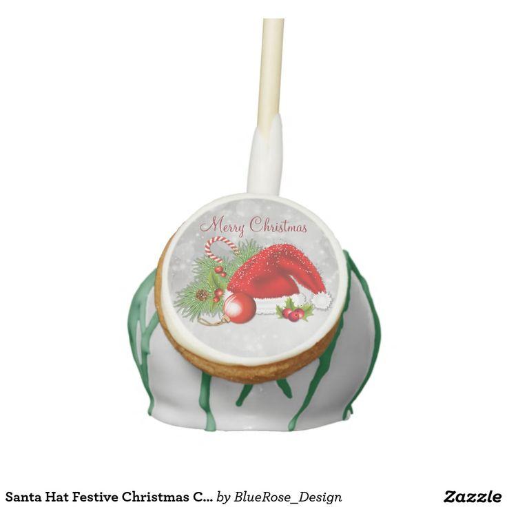 Santa Hat Festive Christmas Cake Pops
