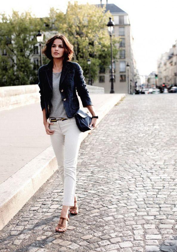 102d2327a76 Parisian Chic Street Style Dress Like A French Woman | FashionGum ... #women.  Visit. February 2019