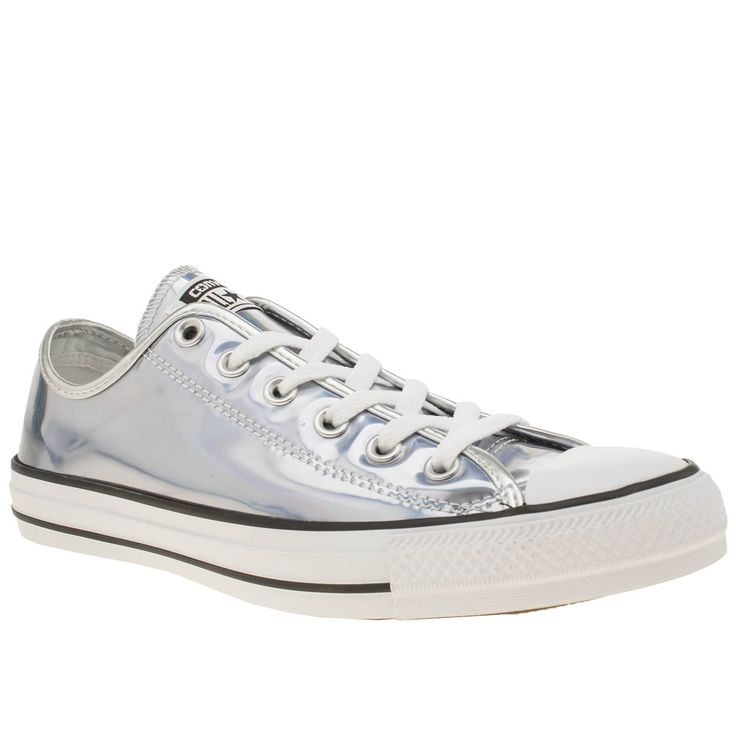 womens converse silver all star hologram ox trainers