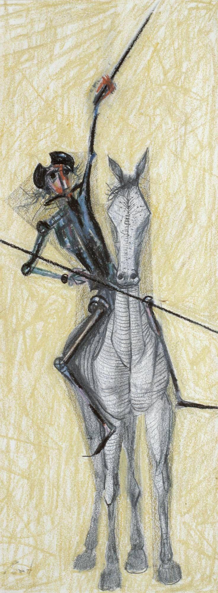 Portal Portinari - Dom Quixote a Cavalo com Lança e Espada