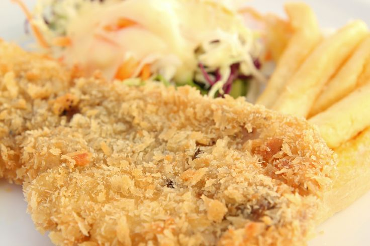 Baked Walleye with a buttery cracker crumb crust...