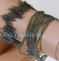 Набор браслетов из бисера «Сизая Голубка», фото