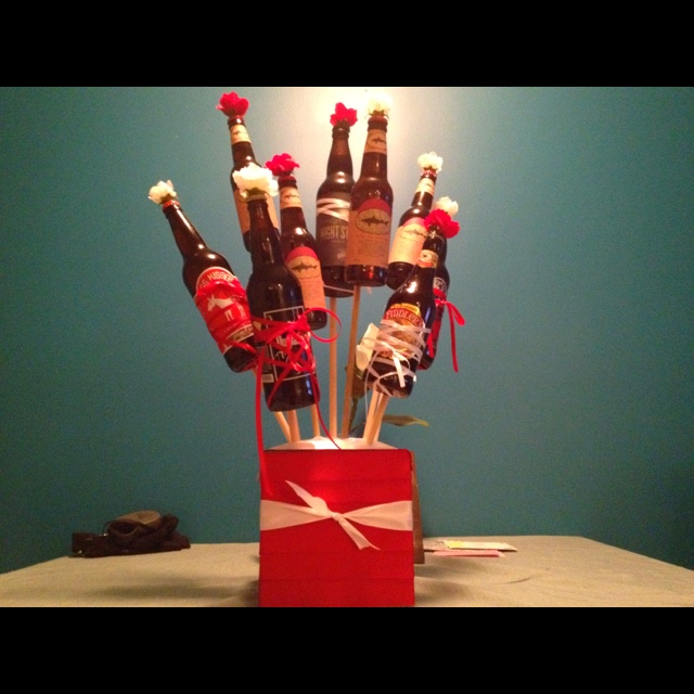 beer bouquet for a manly valentines day gift - Manly Valentine Gifts