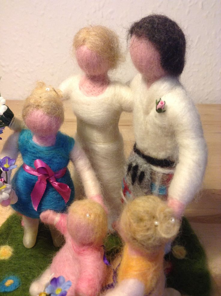 Needle felted family group