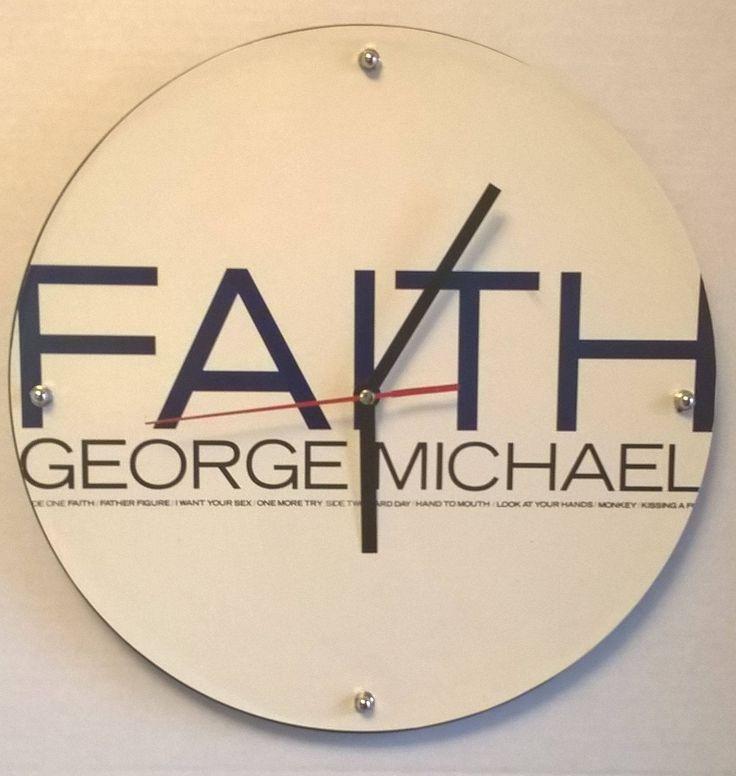 George Michael Faith Word Album Rock Clock by RockPopAlbumClocks on Etsy