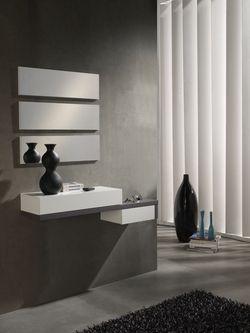 meuble dentre moderne miroirs ermes blanc et gris cendr